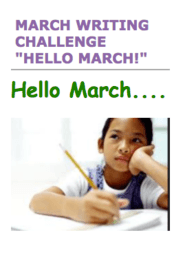 March Writing Challenge